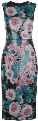Dvf Diane Von Furstenberg Sleeveless Floral Print Dress