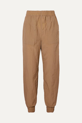 Ganni Tech-shell Track Pants - Sand