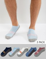 Asos Sneaker Socks With Color Blocks 5 Pack