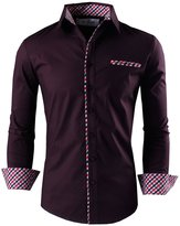 Tom's Ware Mens Premium Casual Inner Layered Dress Shirt TWNMS310S-1-MINT-2XL
