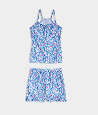 Vineyard Vines Girls' Floral Flamingo Lounge Set