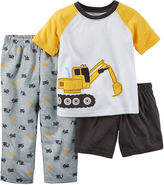 Carter's Boy Construction 3-pc. Pajama Set - Baby Boys 12m-24m