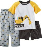 Carter's Boy Construction 3-pc. Pajama Set - Baby Boys 12m-24m
