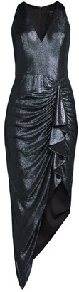 Aidan Mattox Draped Asymmetrical Dress