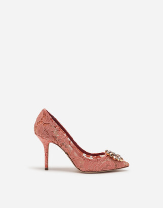 Dolce & Gabbana Taormina Lace Pumps With Crystals