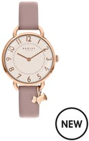 Radley Southwark Park Pale Pink Leather Strap Watch With Iconic Dog Charm
