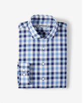 Express extra slim fit plaid spread collar dress shirt