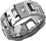 Jacques Lemans Jewellery Vedette S-R51H54 Swarovski Crystal Steel Ring Size O