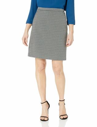 Anne Klein Women's Houndstooth Tweed Skirt
