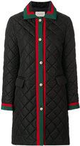 Gucci quilted Web coat - women - Cotton/Polyamide/Polyester/Viscose - 42