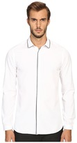 The Kooples Classic Collar Shirt w/ Navy Piping Men's Long Sleeve Button Up