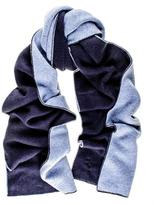 Black Two Tone Blue Double Faced Cashmere Scarf
