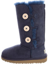 UGG Girls' Bailey Button Suede Boots