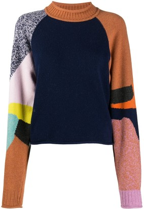 See by Chloe Colour-Block Funnel Neck Jumper