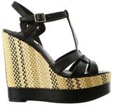 Lauren Ralph Lauren Maeva Platform Wedge Sandal Shoe - Black - Womens - 8.5