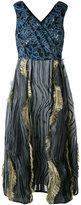 Antonio Marras ruffled midi dress - women - Polyester/Cotton/Silk/Spandex/Elastane - 40