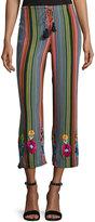 Figue Goa Striped Silk Pants, Multi