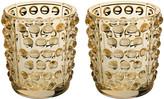 Lalique Mossi Votives - Set of 2 - Gold Lustre