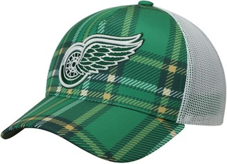 adidas Men's Kelly Green/White Detroit Red Wings St. Patrick's Day Trucker Adjustable Snapback Hat