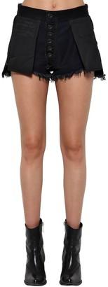 Unravel Reverse Cotton Denim Shorts