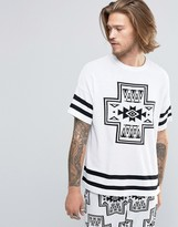 Asos Knitted T-shirt with Geo-Tribal Design