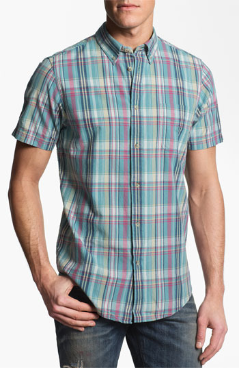 Ben Sherman Washed Madras Check Woven Shirt