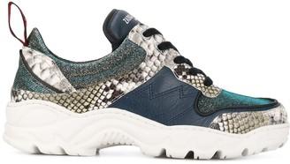 Zadig & Voltaire Blaze contrast print sneakers