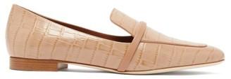 Malone Souliers Jane Crocodile-effect Leather Loafers - Tan