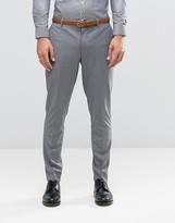 Jack & Jones Premium Skinny Suit Trouser In Grey