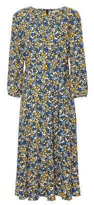 Dorothy Perkins Womens Billie & Blossom Tall Three Quarter Ditsy Midi Dress