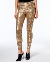 Hue HUEandreg; Women's Distressed Metallic Leggings