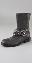 Hollywood Trading Company Motor Boots with Studded Strap