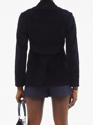 RED Valentino Double-breasted Cotton-corduroy Jacket - Navy