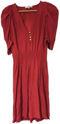 Sandro Red Silk Dresses