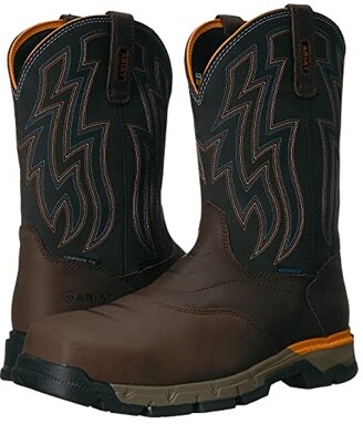 Ariat Rebar Flex Western H2O Composite Toe (Chocolate Brown) Cowboy Boots