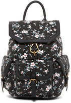 Madden-Girl Floral Canvas Flap Backpack