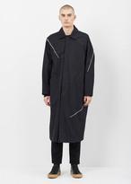 J.W.Anderson black multi-zip cotton twill coat