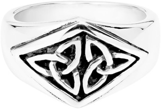Aeravida Handmade Nice Celtic Triquetra Knot .925 Sterling Silver Ring