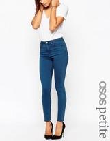 Asos Ridley Skinny Ankle Grazer Jeans In Aspen Dark Wash