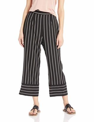 BB Dakota Junior's Skip The Lines Printed Stripe Crepe Pant