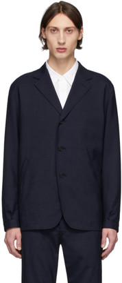 Comme des Garçons Homme Navy Tropical Wool Three-Button Blazer
