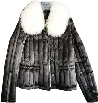Louis Vuitton Anthracite Shearling Jackets