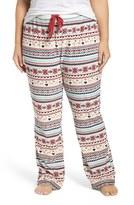 PJ Salvage Plus Size Women's Velour Thermal Lounge Pants