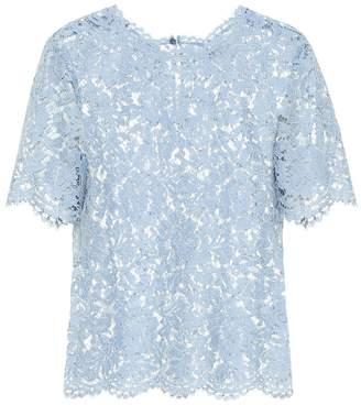 Valentino Cotton-blend lace top