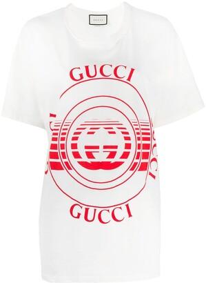 Gucci logo print oversized T-shirt