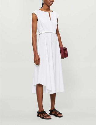 Max Mara Grecian cotton-poplin midi dress