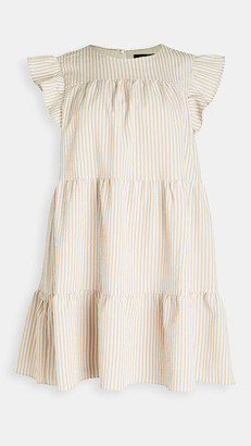 En Saison Striped Tiered Babydoll Dress