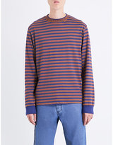 Stussy Striped Cotton-jersey Top