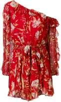Zimmermann one-shoulder floral playsuit