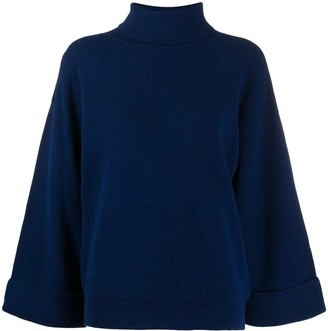 A.P.C. Roll Neck Flared Sleeve Jumper